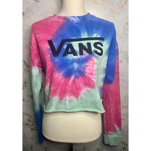 Vans Tie Dye Cropped Sweatshirt Small